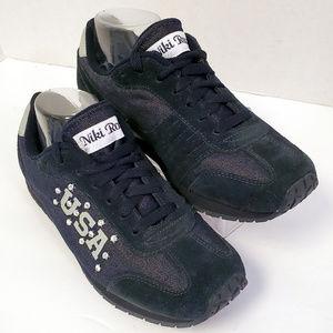 Bakers Niki Roxx USA Gem Studded Blue Sneakers